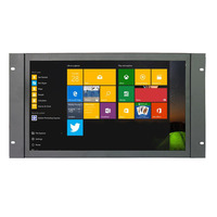 17 inch wide open frame capacitive touch screen monitor with 10 points touch for industrial use