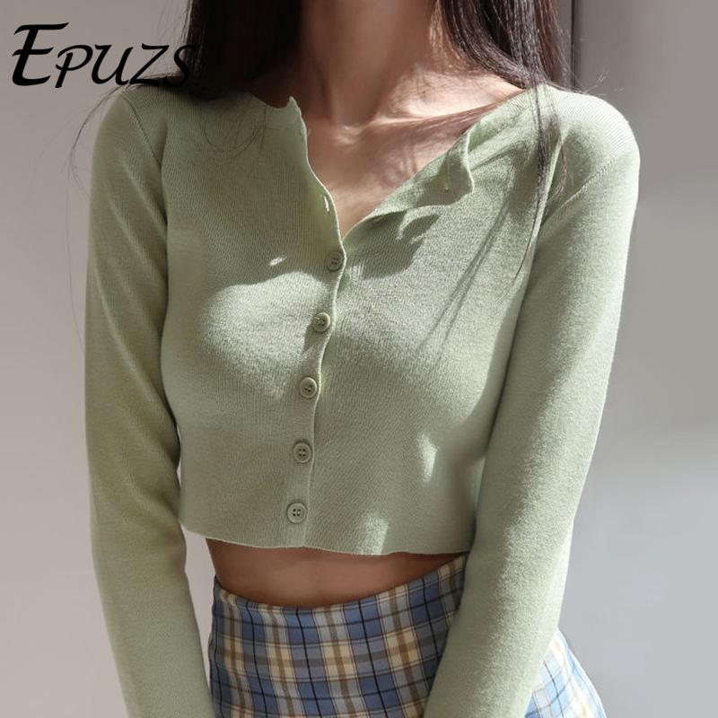 Korean O neck Short Knitted Sweaters Women Pink Cardigan Fashion long sleeve Sleeve Crop Top Sweet crop sweater