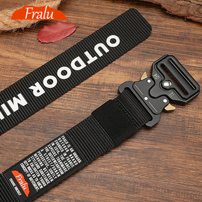 Male Tactical military Canvas Belt Outdoor Tactical Belt men's Military Nylon Belts Army ceinture hom 125-140long big size Belt