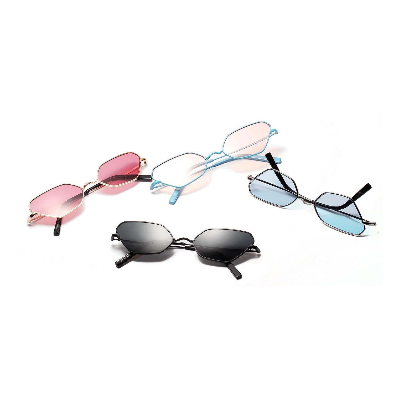 2020 Fashion CatEye Sunglasses Small Frame Polygon Sunglasses women gg Brand Designer Metal Frame Punk Luxury Retro