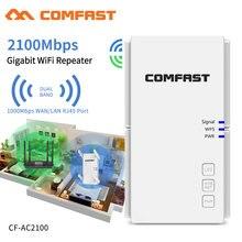 2100 mb/s daleki zasięg dwuzakresowy 2.4 + 5Ghz bezprzewodowy Wifi Roteador Gigabit Port Repeater moc Wi-fi Extender Wlan Wi-fi wzmacniacz AP