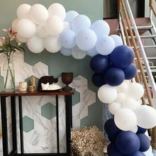 METABLE Balloons Arch Garland Kit 106pcs Royal Blue white Latex Balloon Pack For Boy Baby Shower Birthday Wedding Party