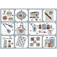 Lovely kitchen patterns counted cross stitch 11ct 14ct 18ct