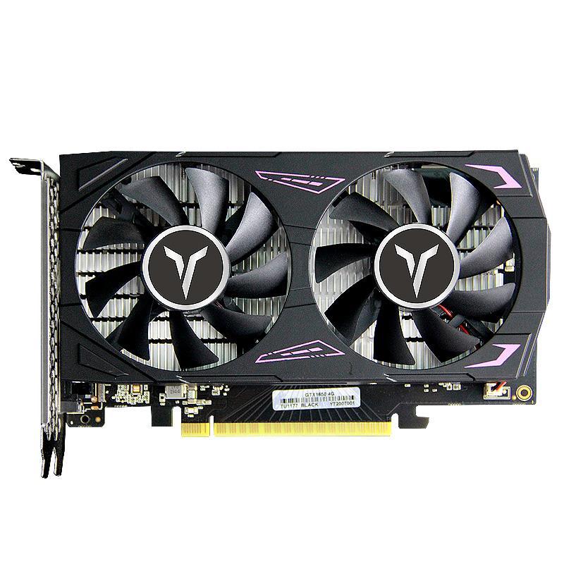 Видеокарта Yeston GTX1650-4G D6 GA 4G/128 бит/GDDR6 1410/1590 МГц DVI-D + HDMI + DP игровая видеокарта для видео