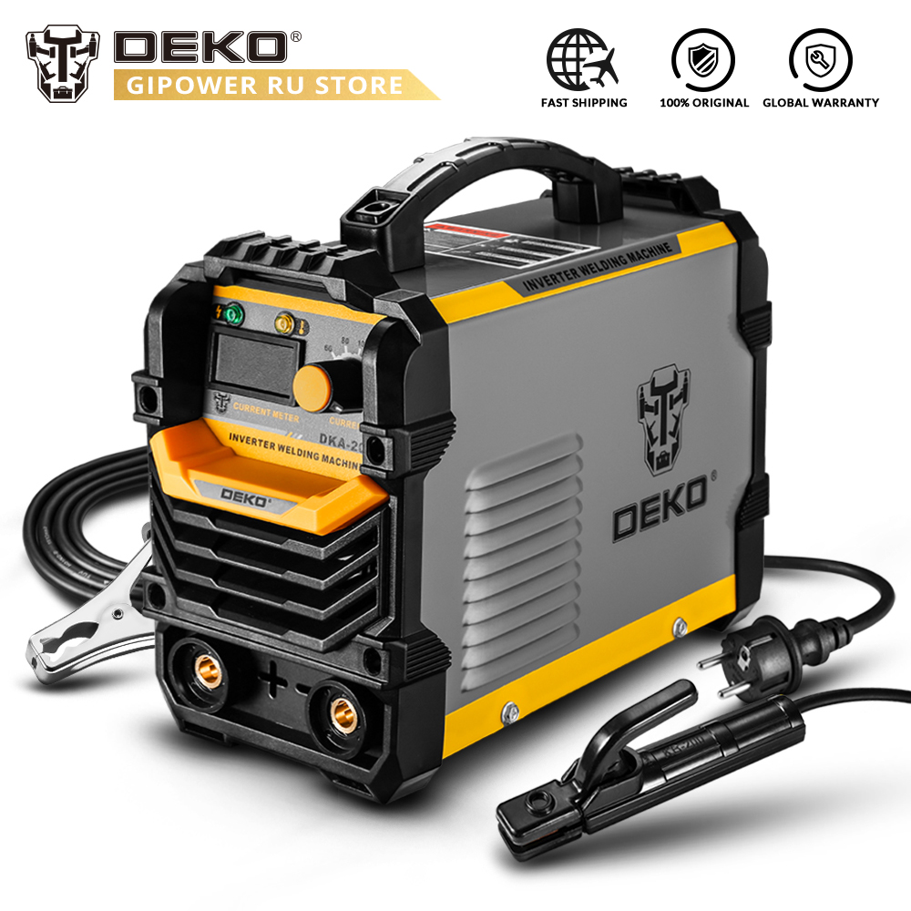 DEKO DKA-200Y 200A 4.1KVA Inverter Arc Electric Welding Machine 220V MMA Welder For Home DIY Welding Task And Electric Working