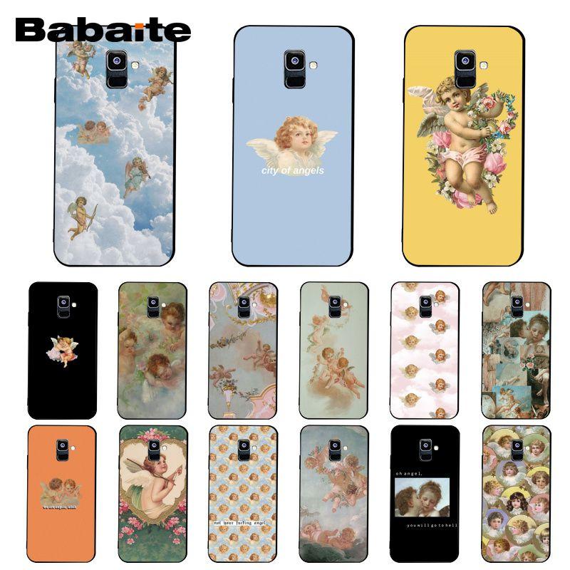 Renaissance Angels Soft Silicone Back Phone Case For Samsung Galaxy A7 2018 A50 A70 A8 A3 A6 A6plus A8plus A9 2018