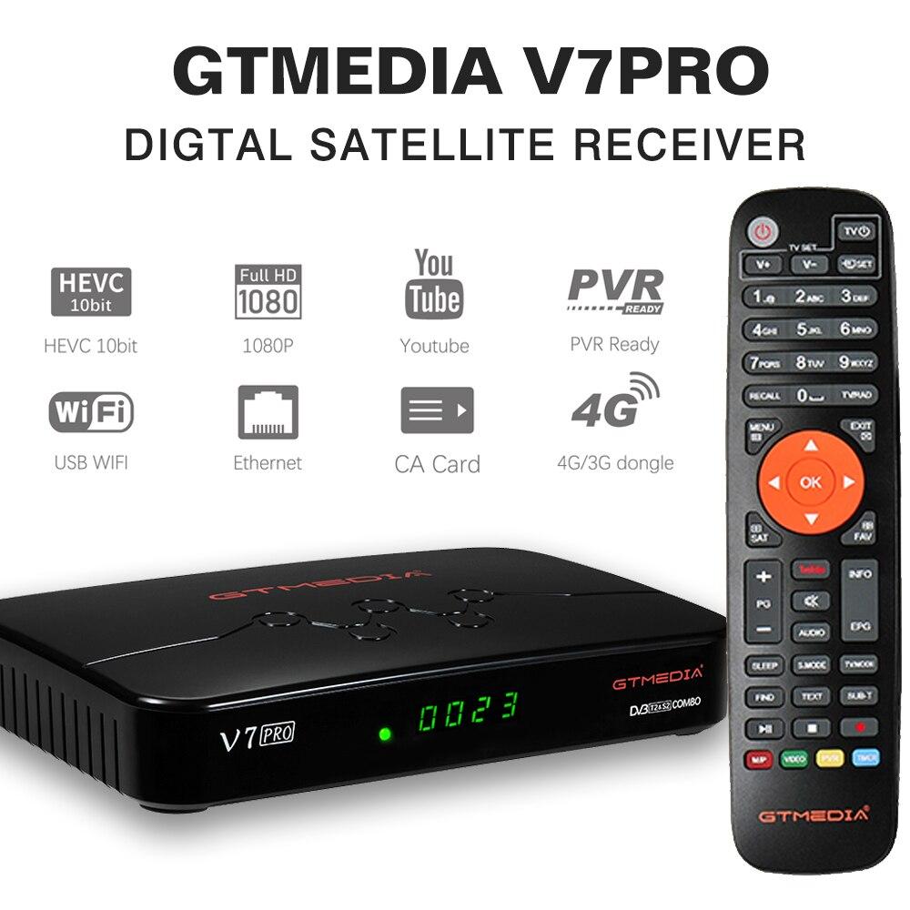 👍2020 NEW GTMEDIA V7 Pro Satellite Receiver 1080P HD DVB S2 S2X T T2 Combo H.265 HEVC 10bit USB WiFi Ccam Terrestrial TV BOX