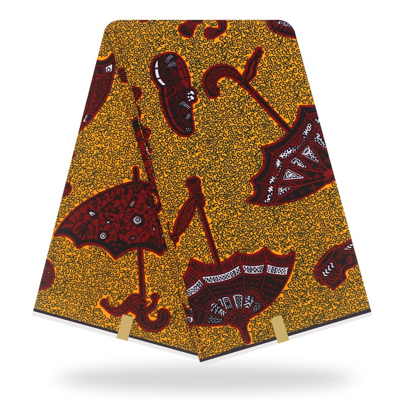 African Fabric Wax Real  Wax High-quality Prints In Original Wax 100% Cotton  Wax  African Ankara Fabric