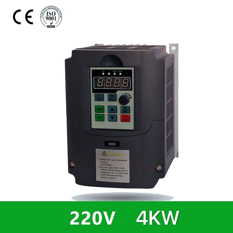1Set Variable Frequency Inverter Single Phase 220VAC Input to 3-Phase 0-380VAC Output 4KW 0Hz-400Hz frequency