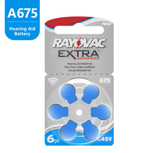 Image 4 - 60 PCS Rayovac Extra Hearing Aid Batteries Zinc Air 675A 675 A675 PR44 For Hearing aids