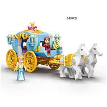 legoinglys Hot Fairy tale princess Carriage building block assemable bricks Prince charming figures horse toys for girls gifts(China)