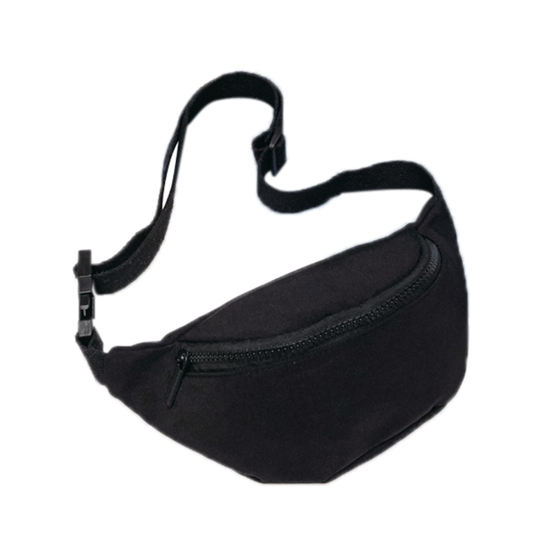 Fashion Children'S Bag Waist Bag Chest Bag Coin Purse Snack Pack Women New Hight Quality Women Fanny Pack(Black)