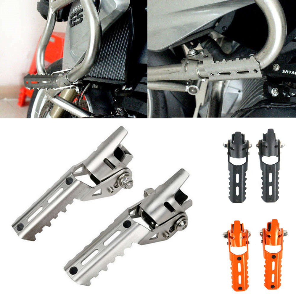 1 Pair Highway Front Foot Pegs Footrests For BMW R1200GS R 1200 GS LC 2013-2017 For Triumph For Tiger Explorer Clamps 25mm