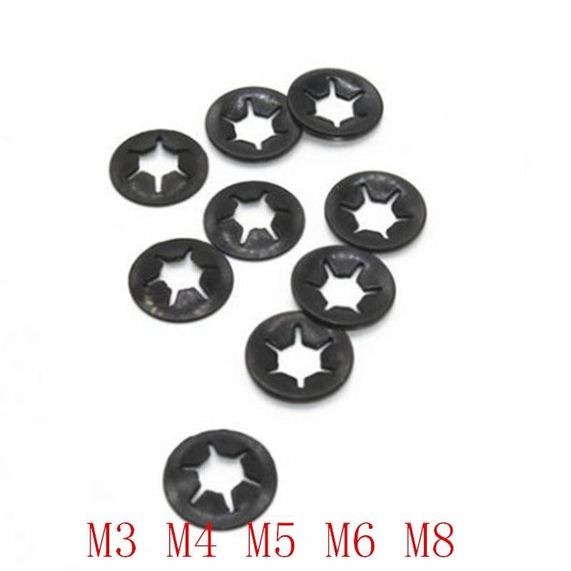 M2 M3 M4 M5 M6 Star Nut Starlock Push On Locking Grab Washers Fastener Kit
