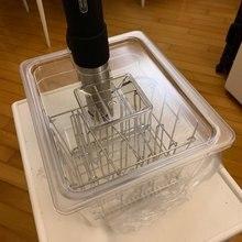 Складной откидной Sous Vide контейнер с крышкой для циркулятора Sous Vide кулинарная прецизионная плита 11 литров емкость