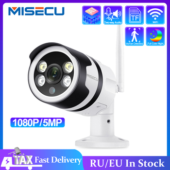 MISECU 5.0MP 1080P Wireless IP Camera Two-way Audio Outdoor Waterproof Color Night P2P ONVIF Security CCTV Wifi Camera 2MP Metal