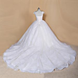 Image 4 - 2020 Nieuwe Luxe Desgin Trouwjurken Korte Mouwen Bruid Dress Custom Made Dubai Trouwjurk Fabriek Direct Baljurk