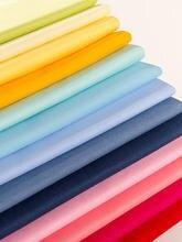 Tissu pour chemise en sergé de coton, 50CM x 165CM/pièce, tissu pour vêtements, tissu en coton pur brodé, matériel de bricolage fait à la main