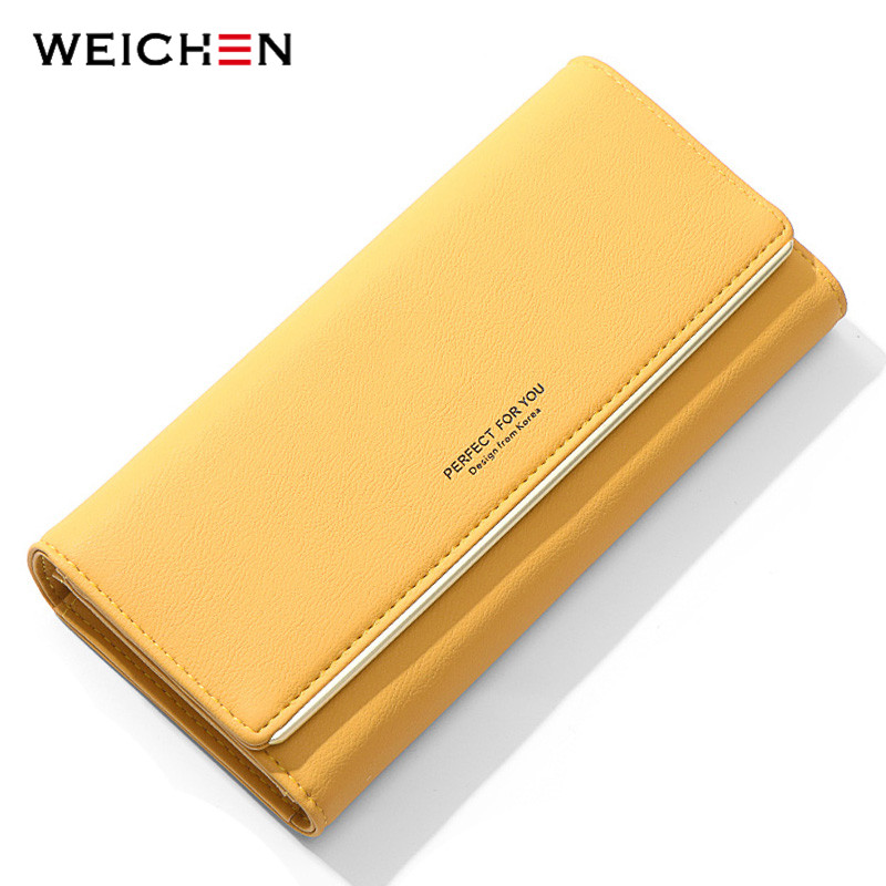 Brand Designer Trifold Women Wallets Card Holder Large Capacity Purse Soft Leather Long Wallet Clutch Phone Pocket Carteira NEW