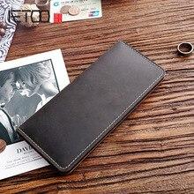 AETOO винтажный кожаный мужской кошелек Mad Horse, кожаный Длинный кошелек, Молодежная Вертикальная мужская сумка