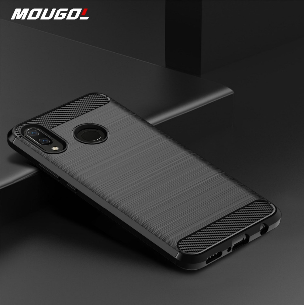 Brushed Texture <font><b>Case</b></font> For <font><b>Huawei</b></font> Y7 2019 Prime Y9 <font><b>2018</b></font> Y6 Pro 2017 Y5 Lite Y3 <font><b>9</b></font> 7 6 5 3 <font><b>Y</b></font> Max Y7S Carbon Fiber <font><b>Case</b></font> Back Cover image
