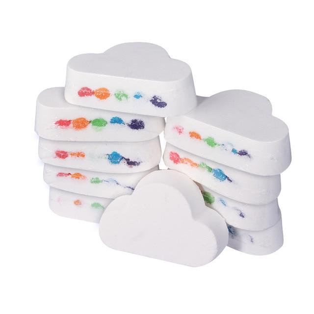 Natural Skin Care Bath Salt Rainbow Soap Ball Skin Care Exfoliating Moisturizing Handmade Bath Bomb Bubble Massage SPA 2