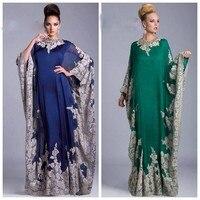New Vestidos De Noche Arabic Kaftan Long Chiffon Dubai Kaftan Long Sleeve Abaya In Dubai Moroccan Kaftan Mother of Bride Dresses