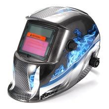 Capacete de soldagem automático solar máscara de soldagem cabeça-montado arco de argônio capacete de proteção de soldagem plana flip metade helicoidal