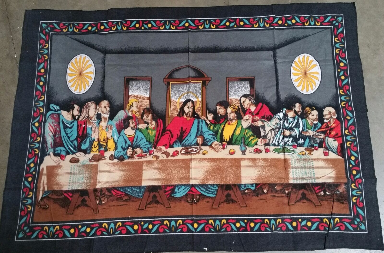 Jesus The Last Supper Wall Tapestry