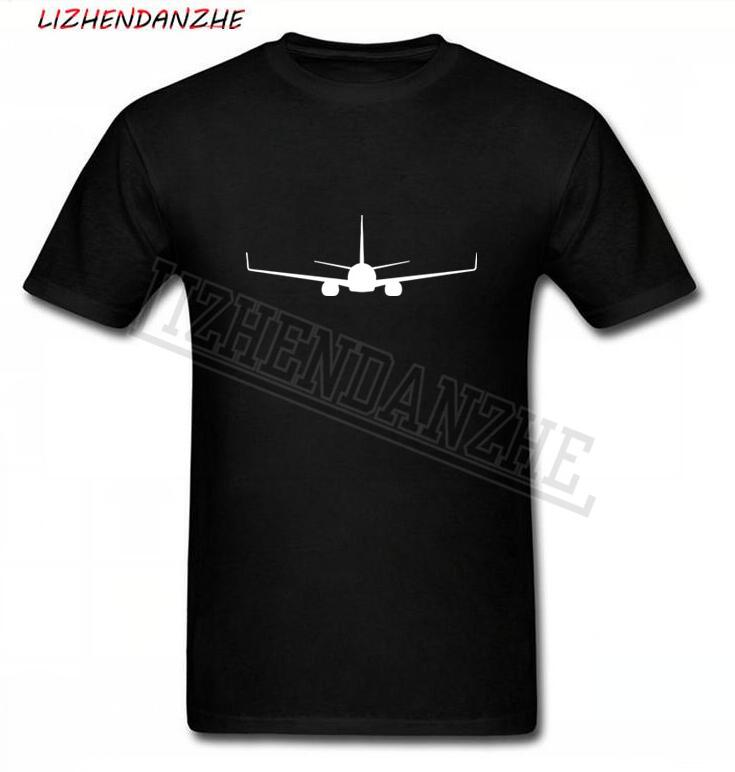 High Quality Aircraft High Quality BOEING 737 PRINT Summer New Man T Shirt New Men T-shirt Clothes K259 0201
