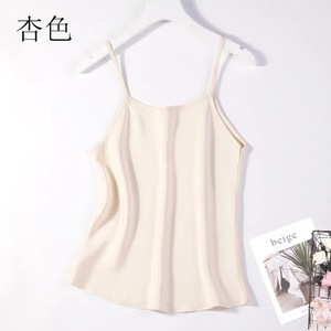 Image 2 - Camisola 100% tirantes finos de seda para mujer, camiseta sin mangas, talla M L JN003