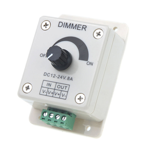 DC 12V-24V LED Dimmer Controller Adjust Single Color For 5050 3528 LED Strip