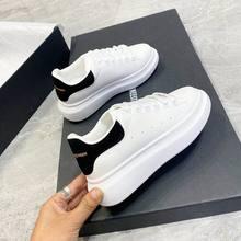 Sapatos de skate homens pring marca primavera designer cunhas tênis branco plataforma tenis feminino formadores mcqueens masculino andando