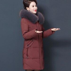 Image 4 - Veste dhiver pour femmes, manteau à capuche pour maman, grande taille 7XL 8XL, Parka épais en coton, manteaux chauds et longs, C5865