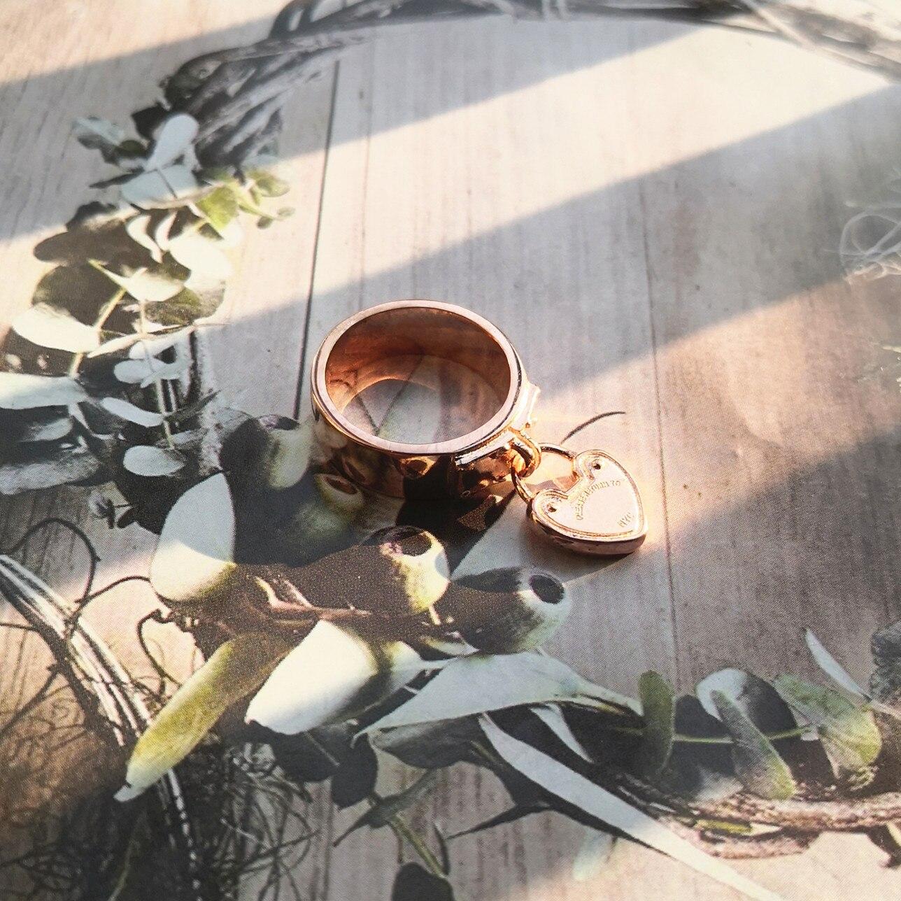 Forma de Bloqueio Prata Pura Clássico Ouro Rosa Dourado Coração-em Escultura Letras Casais Amor Anel Festival Decorações ms S925