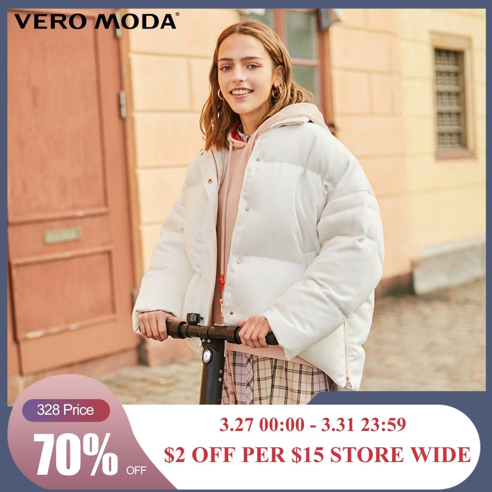 Vero Moda New Silhouette Drop-shoulder Low-high Down Jacket | 319423521