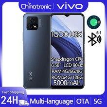 Original iqoo u3x 4gb 128gb 5g telefone móvel snapdragon 6.58