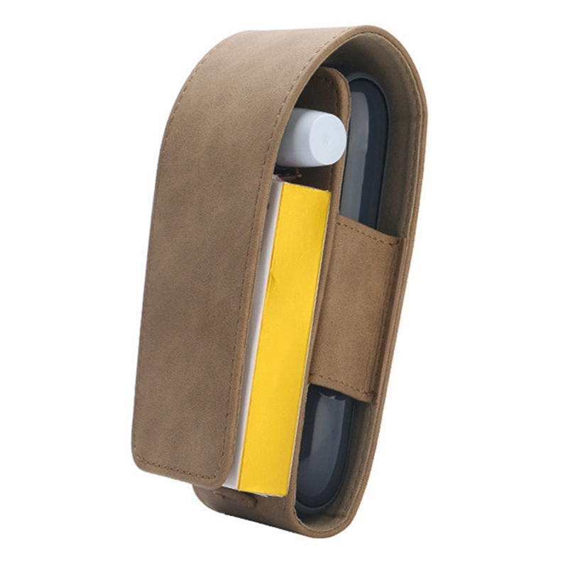 Чехол для IQOS 3,0 из искусственной кожи держатель для электронных сигарет чехол для переноски Набор DIY сумка для хранения полная защитная сумка - Цвет: BR