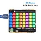 RGBDuino RGB Sheild V1.0 RGB LED Lamp Panel Light 8*5 RGB LED Pixel Matrix For Arduino UNO Arduino mega 2560 RGBDuino UNO V1.1