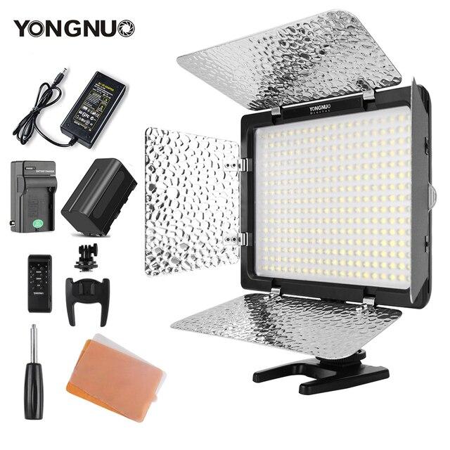 Yongnuo YN300 III YN300III 3200k 5500K CRI95 كاميرا صور LED الفيديو الضوئي اختياري مع التيار المتناوب محول الطاقة + NP770 عدة البطارية