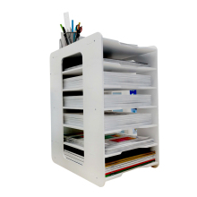 Document Trays White Paper File Holder 6 Layers Document Tray Office School Supplies