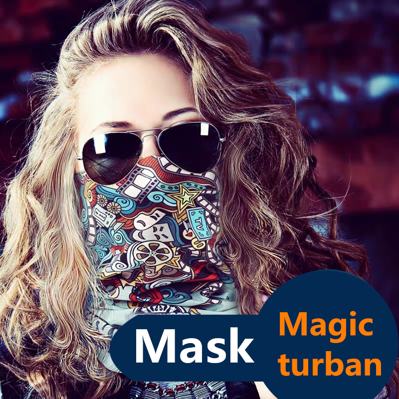 Fashion Travel Dustproof Magic Turban Unisex Ventilate Sweatproof Headband Bike Half Face Sports Bib Creative Variety Face Scarf