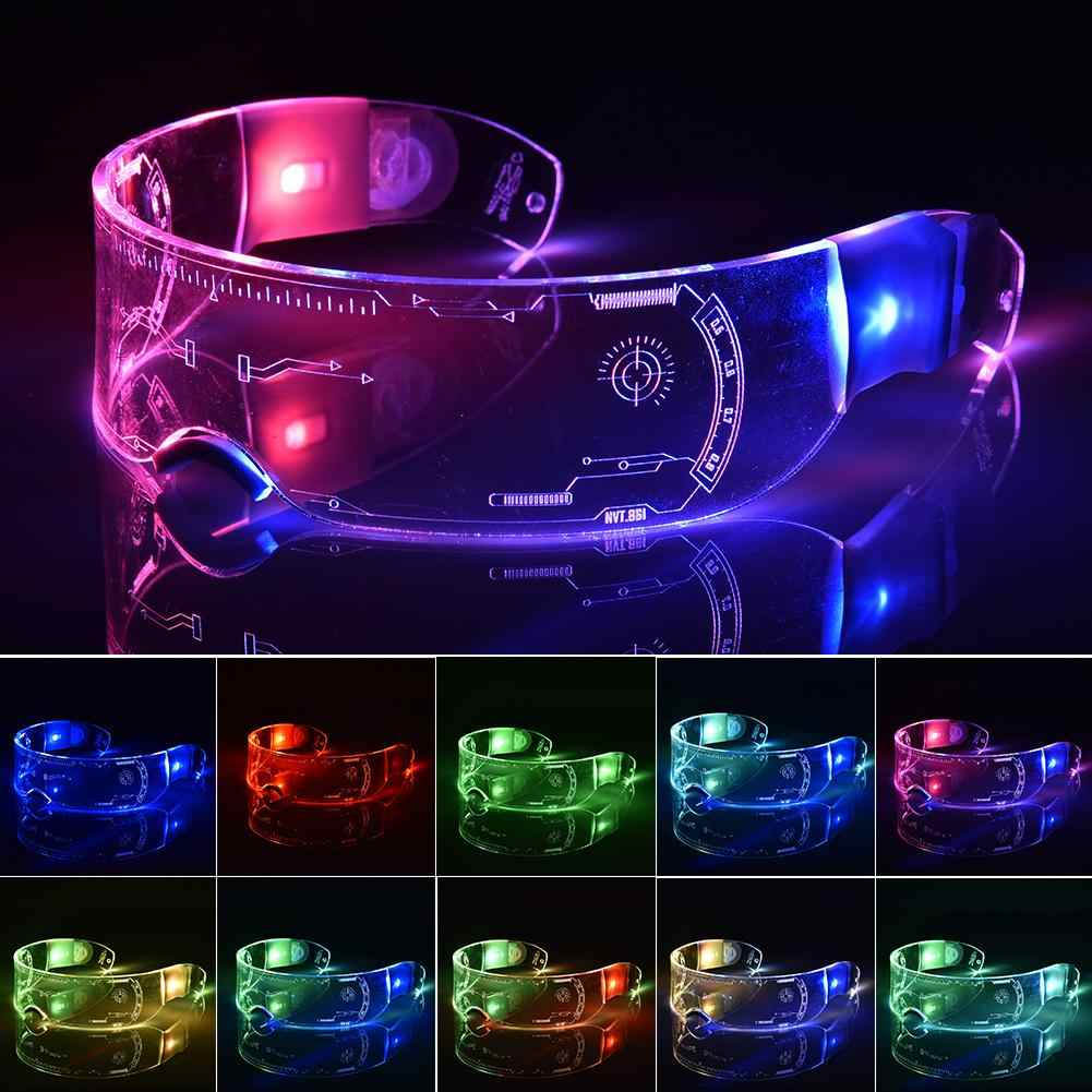Luminous LED Neon Light Up Glow Shades Glasses Eyewear Nightclub Hallow Party