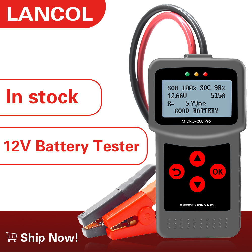 Lancol micro200pro 12V car battery tester battery capacity digital automotive Resistance Tester supplier tool 40 to 2000cca