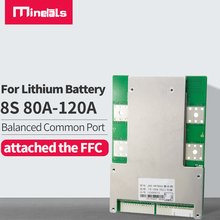 8s 24V BMS PCM 80A 100A 120A function short circuit protection With common Port lithium battery pack with balance  lifepo4 BMS