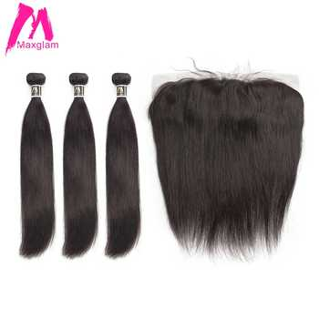 straight hair bundles with frontal remy brazillian hair weave bundles preplucked short long human hair extension 3 bundles - DISCOUNT ITEM  49% OFF All Category