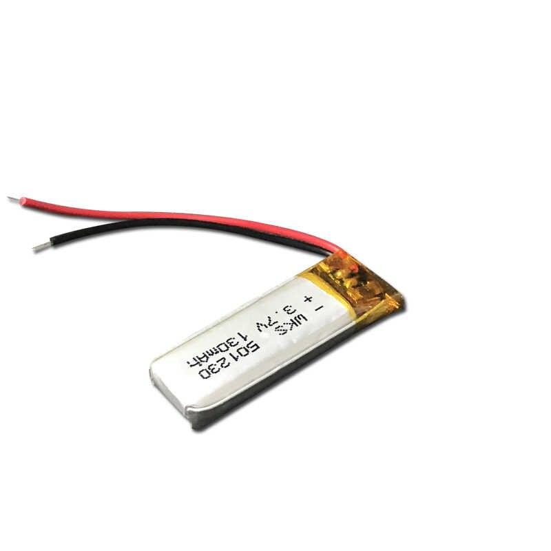 1/2/3 adet 3.7V Lipo hücreleri 501230 130mah lityum polimer şarj edilebilir pil için MP3 MP4 GPS Bluetooth kulaklık hoparlör okuma kalem