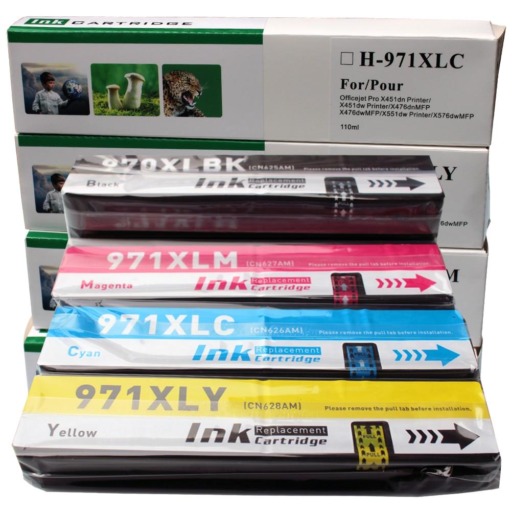 For HP 970XL 971XL 970 971 XL Replacement Ink Cartridge For HP970 Officejet Pro X451DN X451DW X551 X576DW X476DW X476DN