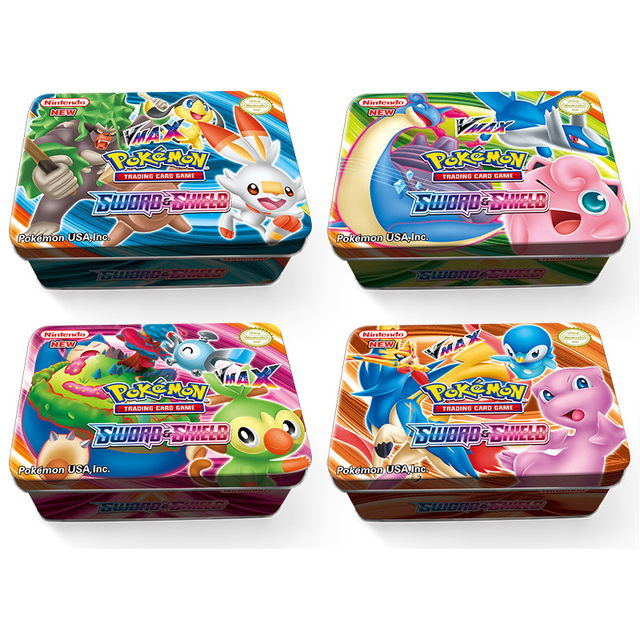 42pcs/set Pokemon Iron Box Cards SUN&MOON TAKARA TOMY Cards Hobbies Hobby Collectibles Game Collection Anime Cards for Children