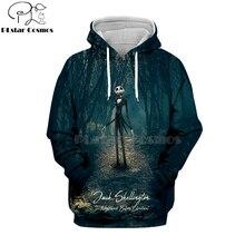 PLstar Cosmos nightmare before christmas jack skellington 3d hoodies/shirt/Sweatshirt Winter Christmas Halloween streetwear-5